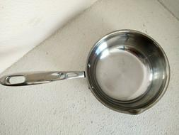 """Emeril Lagasse 1 Qt Stainless Steel Copper Band 6"""" Sauce pan"""