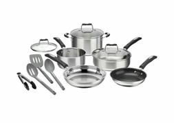 Cuisinart 12-Piece Cookware Set - Stainless Steel Oven And D