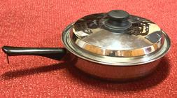 """AMWAY QUEEN 18/8 MULTI PLY STAINLESS STEEL 10 3/4"""" SKILLET"""