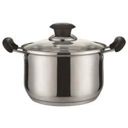 2 QUART STAINLESS STEEL SAUCE POT WITH GLASS LID