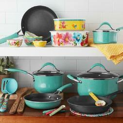 The Pioneer Woman 25-Piece Cookware Set Nonstick Cast Iron S