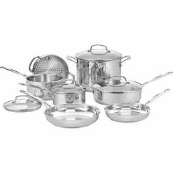Cuisinart 77-11G Chef's Classic Stainless 11-Piece Cookware