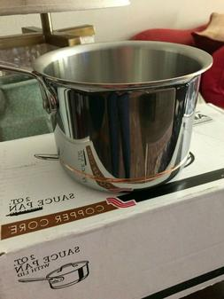 All-Clad Copper Core 2 QT Sauce Pan Stainless Steel Handcraf