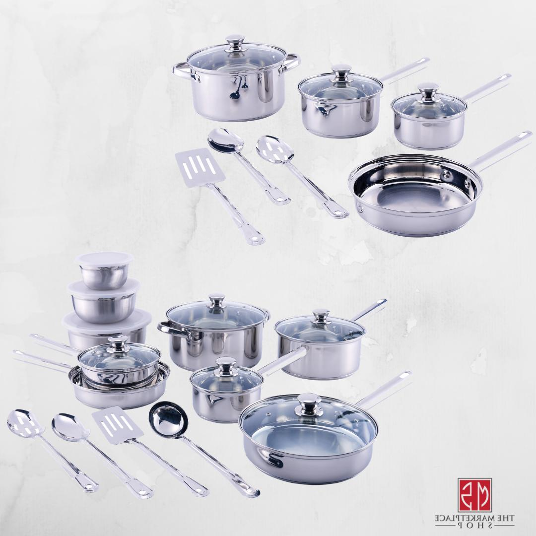 cookware set non stick stainless steel 10