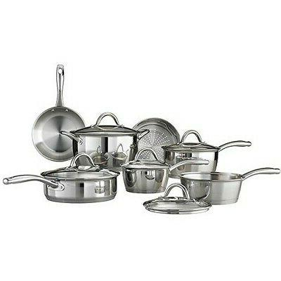 gourmet stainless steel tri ply base cookware