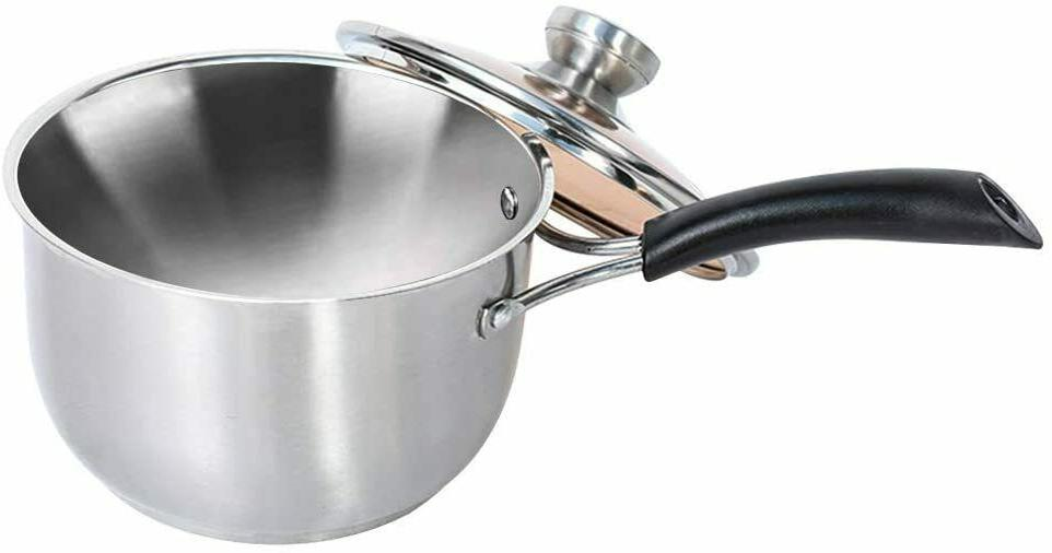saucepan with lid cover stainless steel nonstick