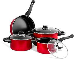 Imperial Home MW1204 Carbon Steel 7 Pieces Nonstick Cookware