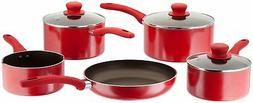 JUDGE RADIANT RED 5 PIECE NON STICK COOKWARE PAN SET 25 YEAR