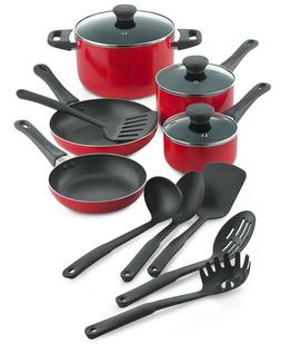Tools of the Trade RED 14-Pc. Aluminum Cookware Pots & Pans