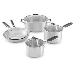 Select by Calphalon 8pc Stainless Steel Cookware Set