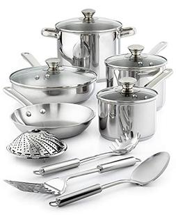 Tools of the Trade Stainless Steel 13-Pc. Cookware Set, Only